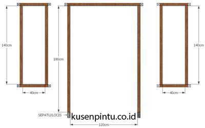 Kusen 1 Pintu 2 Jendela